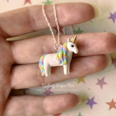 New hand-sculpted tiny weeny unicorn pendant! Her name is Candy-Floss. Visit my Etsy shop to order a custom made unicorn - you can find a link in my profile! #folksy #polymerclaycharms #handmade #polymer #fimo #etsy #notonthehighstreet #craft #handmadeisbetter #unicornsarereal #polymerclay #premo #sculpey #necklace #handmadejewelry #miniature #clayart #handsculpted #crafting #unicorns #unicorn #handmadejewelry #charms #rainbow #pendant #shopsmall