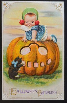 Halloween Postcard Jason Freixas Winsch by EndlessEphemera on Etsy