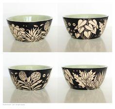 glazed earthenware bowl decorated with engobes bol en faïence émaillée décoré aux engobes H. 5,5 x diam. 10,5 cm © philomene251 - 2015 - all rights reserved