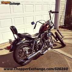 Learn more about this used custom black with flame gas tank 1976 Harley-Davidson® FX Super Glide® Liberty Edition motorcycle for sale on ChopperExchange. It is located in Charlotte, North Carolina. American Motorcycles, Vintage Motorcycles, Motorcycles For Sale, Super Glide, Old Pictures, Old School, Harley Davidson, Liberty, Most Beautiful