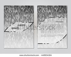 Cover template. The concept of brochures, booklets, flyers. The basis for the banner presentation. Blank layout for ads or commercials. Information Sheet. Vector illustration.