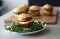 Caprese Corn Muffin Sandwiches - Brit & Co. - Food