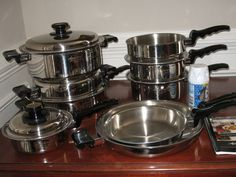 West Bend Waterless Cookware Royal Prestige 7 Ply Stainless ...