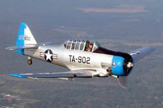 Originally a North American SNJ-4 Texan/Harvard trainer, a 6-year restoration has been completed as an LT-6D which was used in Korea as a forward air controller and called a Mosquito. Owned & operated by the Commemerative Air Force Dixie Wing.