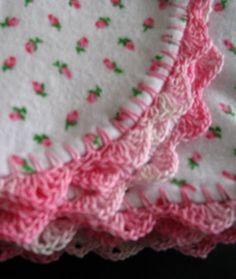 SewChic: Another look....Crochet Edged Baby Blankets