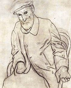 Pablo Picasso - Portrait of Auguste Renoir