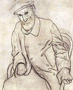 Pablo Picasso - Portrait of Auguste Renoir (1881-1973), Spain