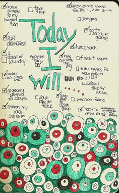 journal page - daily to do list ☑