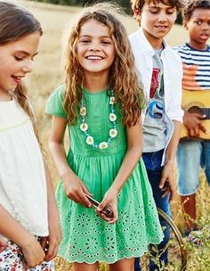 Girls Dresses, Kids Summer, Knitted & Party Dresses | Mini Boden UK | Boden