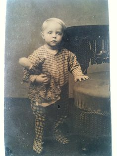 Sweetest boy and his beloved doll tintype by smokey lace, via Flickr
