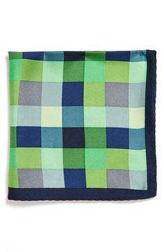 Original Penguin 'Irving Plaid' Silk Pocket Square available at #Nordstrom