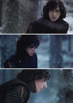 Adam Driver BTS - Kylo ren Snow fight