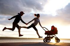 Mom and Dad Jogging With Stroller. This is Awesome! Cardio, Post Baby Workout, Happy Parents, Happy Family, Getting Back In Shape, Jogging Stroller, After Baby, What Is Like, Pregnancy