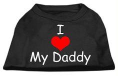 I Love My Daddy Screen Print Shirts Black XXL (18)