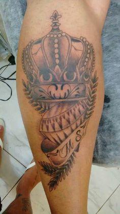 Tattoo coroa com diamante
