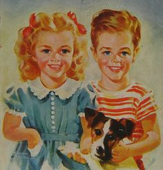 Freddie and Flossie - the Bobbsey Twins.