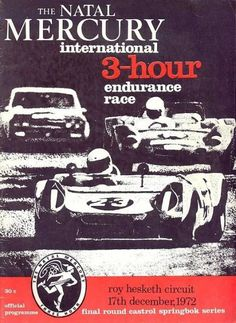 We hope you enjoy your visit to this website, enquiries, comments and suggestions will be most welcome.We still need contributions of programme covers and contents not listed between 1953 to Programming, South Africa, Race Tracks, Racing, African, 1970s, December, Cars, Sports