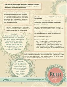 Ruth: A Woman Like You - Week 2 - Leading and Loving It - Leading and Loving It - Girls Bible Study Lessons, Bible Study Journal, Scripture Study, Bible Verses, Scriptures, Bible Quotes, Ruth Bible, Book Of Ruth, Ruth 2