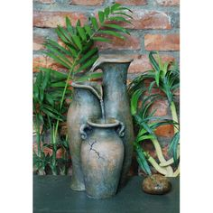 Found it at Wayfair - Fiber and Resin Pouring Jugs Fountain