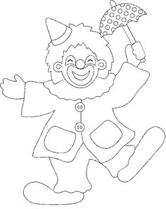 Pagliaccio bn. 02.gif 722×907 pixel Applique Templates, Applique Patterns, Cute Coloring Pages, Coloring Sheets, Clowns, Clown Cirque, Clown Crafts, Joker Drawings, Cross Stitch For Kids