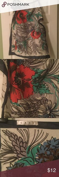 Cabi scarf Cute cotton print scarf. 30 x 30. Designed by Carol Anderson. Great condition. CAbi Accessories Scarves & Wraps