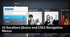 35 Excellent jQuery and CSS3 Navigation Menus