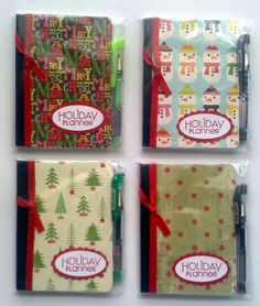 Mini Composition Books Holiday Planners - These would be so easy to make!  glue stick + scrap book paper