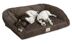 Orvis Deep Dish Dog Bed / X-large Dogs 120+ Lbs, Multiple Dogs., Multi Brown,