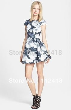 >> Click to Buy << Fashion Print Fit & Flare Dress elegant plushly flared  dresses 1118 #Affiliate
