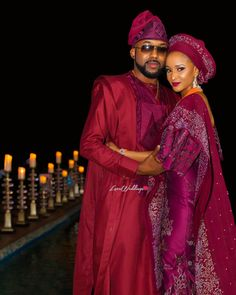 Banky W Breaks The Internet & Hearts With His Shock Engagement & Introduction To Adesua Etomi Nigerian Wedding Dresses Traditional, Traditional Wedding Attire, African Lace Dresses, African Fashion Dresses, Fashion Outfits, African Design, African Style, African Beauty, African Fashion Traditional