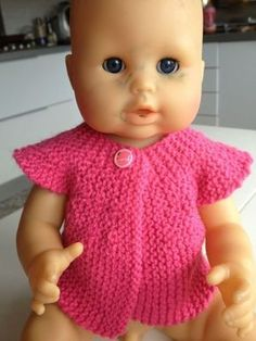 We still knit for the dolls - the hacks of a blonde - Knitting 01 Baby Knitting, Crochet Baby, Knit Crochet, Knitting Ideas, Toddler Dolls, Baby Dolls, Blonde Babies, Diy Kleidung, Crotchet Patterns