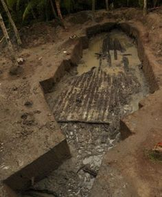 In 2012, National Museum archaeologists discovered and partly excavated what seems to be a 25-meter-long balangay in Butuan, Mindanao. If confirmed to be a balangay, it is the largest specimen of its kind yet found. Dr. Mary Jane Bolunia, National Museum