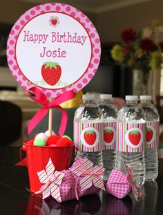 Strawberry Shortcake Birthday Party by partypapercreations on Etsy, $19.95