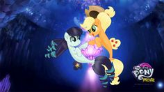 Coloratura and Applejack - MLP Movie Wallpaper by jhayarr23.deviantart.com on @DeviantArt