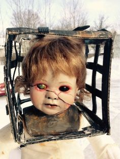 Hey, I found this really awesome Etsy listing at https://www.etsy.com/listing/221826049/altered-porcelain-doll-altered-doll