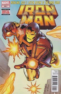 Iron Man Vol. Iron Man (Anthony Edward Tony Stark) is a fictional character, a superhero in the Marvel Comics Universe. Iron Man Comic Books, Marvel Comic Books, Marvel Comics, Iron Man Story, Superior Iron Man, Marvel Comic Universe, Comics Universe, Comic Poster, Iron Man Tony Stark