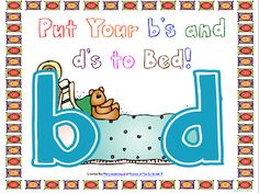 """Oceans of Kindergarten Fun!: Putting the """"b"""" and """"d"""" Confusion to """"Bed""""! Primary Teaching, Teaching Reading, Fun Learning, Learning Support, Reading Lessons, Reading Strategies, Teaching Tips, Preschool Writing, Kindergarten Literacy"""