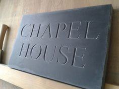 V Cut slate house sign By Dan Anderson www.bespokelettercutting.co.uk