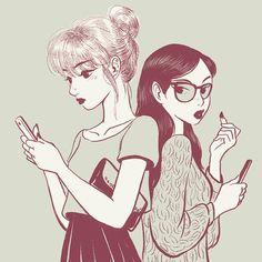 #ktown #teens #drawing by jisookimcat