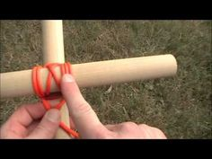 How to tie lashings, for making tops of mobiles!