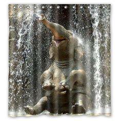 United African Safari Giraffe Elephant Sunset Custom Waterproof Polyester Fabric Shower Curtain For Bathroom 60 X 72 Exquisite Craftsmanship; Home & Garden Bathroom Products
