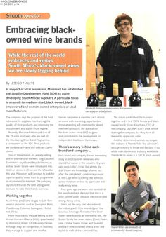 WholeSale Business, 1st October 2013 Embracing black-owned wine brands Wine Brands, October 2013, Rest Of The World, 10 Years, Wines, Memories, Lifestyle, Reading, Business