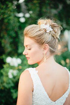 romantic updo, photo by Megan Welker Photography http://ruffledblog.com/garden-romance-wedding-inspiration #weddinghair #hair #bridal