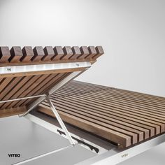 Double Sunlounger: The HOME COLLECTION is the new interpretation of a classic and forges a connection between modernity and timelessness. Attention to detail is a core aspect of the unpretentious, high-quality collection. Brushed larch, oiled teak, and marine grade stainless steel are crafted into a comprehensive collection of the highest quality. The different variants of the chairs, tables, sunloungers and even the swing lend a cosy note to every outdoor setting. Photographer: Paul Ott… Outdoor Settings, Home Collections, Outdoor Furniture, Outdoor Decor, Cosy, Connection, Tables, Chairs, Stainless Steel