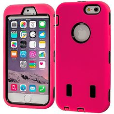 """myLife Layered Protection """"Built In Screen Protector"""" Heavy Duty Case for iPhone 6 Plus (5.5"""" Inch) by Apple {Countryside Pink + Universal Black """"Duo Shockproof Armor"""" Three Piece SECURE-Fit Rubberized Gel} myLife Brand Products http://www.amazon.com/dp/B00QKVU468/ref=cm_sw_r_pi_dp_uKIHub0VVVF33"""