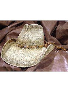 12ae7ea5acb SHADY BRADY HATS Crushable Western Aged Raffia Straw Three-Diamond Concho  1DW91-C3 Natural