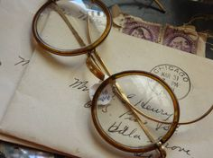 letters and glasses
