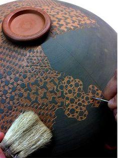 sgraffito technique ceramics - Google Search