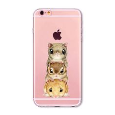 Soft Phone Cover Case For iPhone 7 6 6S 5 5S SE 7Plus 6SPlus 4S Amazing Present Panda Christmas Hamster Heart Fundas