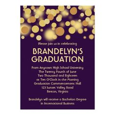 135 best purple graduation invitations images on pinterest grad purple gold celebration graduation announcement filmwisefo